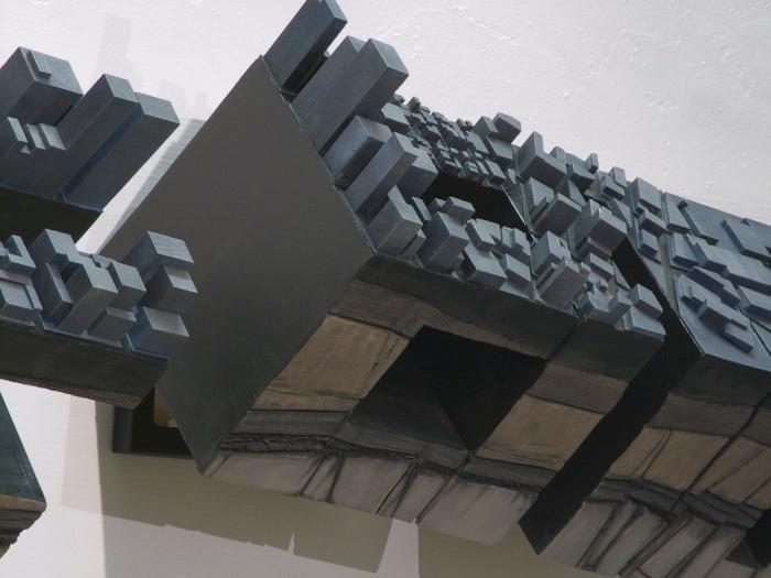 Wood, High Density Polyurethane, Oil Paint, Steel