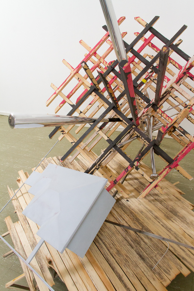 Wood, steel, epoxy, aquaresin, mirror polished baseball bats